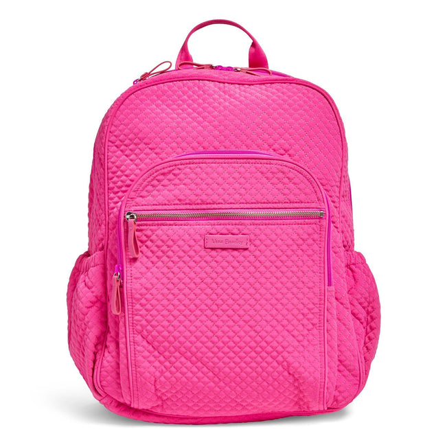 Campus Backpack-Microfiber Rose Petal-Image 1-Vera Bradley