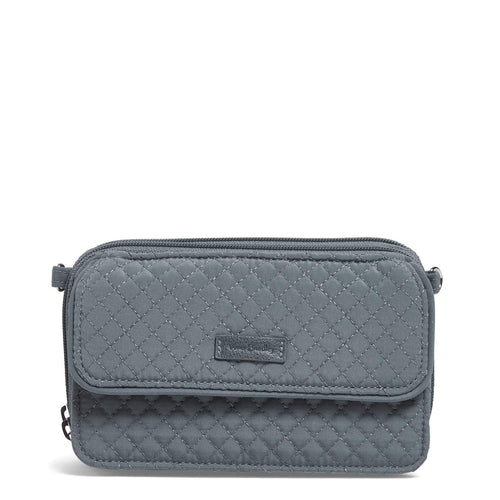RFID All in One Crossbody-Microfiber Charcoal-Image 1-Vera Bradley