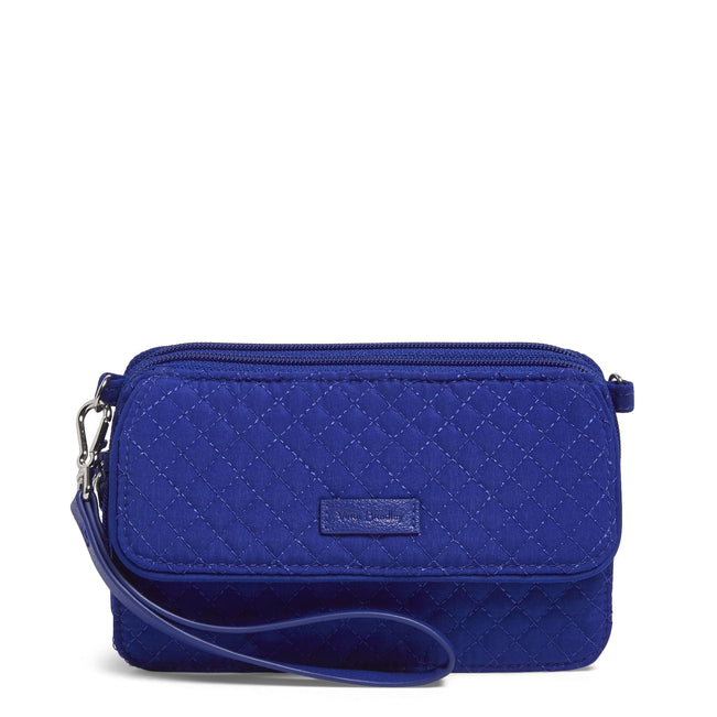 RFID All in One Crossbody-Microfiber Gage Blue-Image 1-Vera Bradley