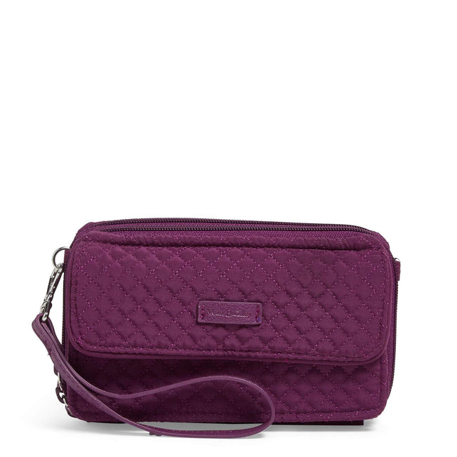 RFID All in One Crossbody-Microfiber Gloxinia Purple-Image 1-Vera Bradley