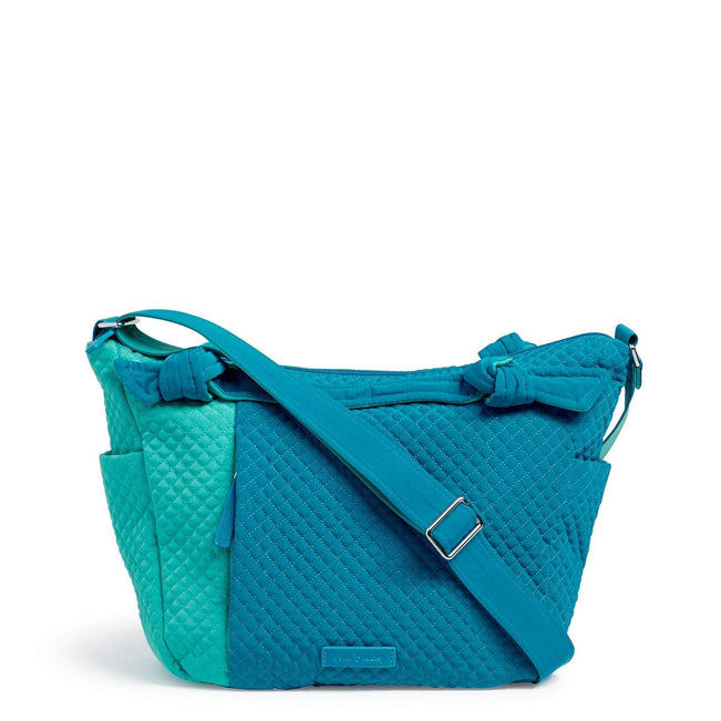 Hadley On the Go Satchel-Microfiber Bahama Bay and Turquoise Sea-Image 1-Vera Bradley