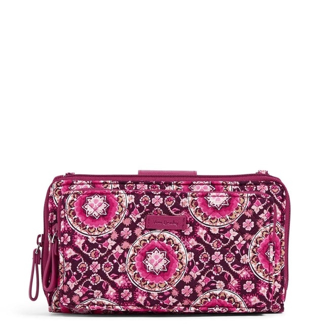 RFID Deluxe All Together Crossbody-Raspberry Medallion-Image 1-Vera Bradley