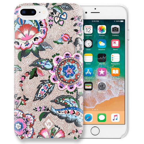 Flexible Phone Case 6+/7+/8+-Stitched Flowers-Image 1-Vera Bradley