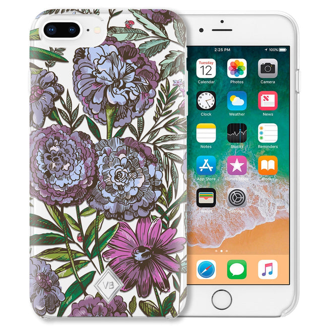 Flexible Phone Case 6+/7+/8+-Lavender Meadow-Image 1-Vera Bradley