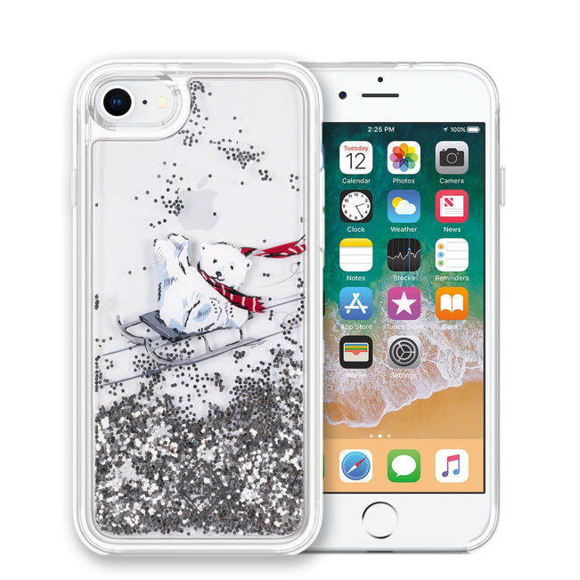 Glitter Flurry Case for iPhone 7/8-Beary Merry-Image 1-Vera Bradley