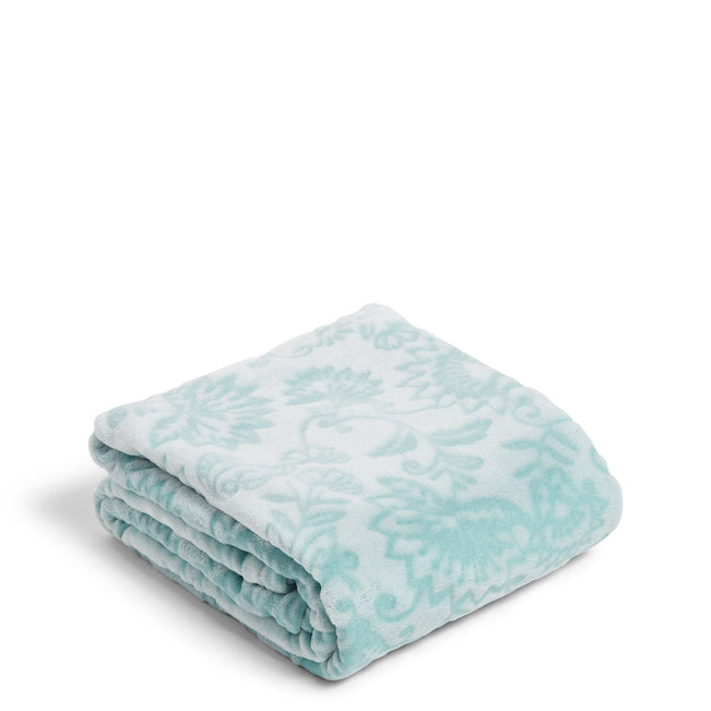 Throw Blanket-Aquamarine Mocha Mint-Image 1-Vera Bradley