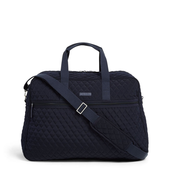 Factory Style Grand Traveler Bag-Microfiber Classic Navy-Image 1-Vera Bradley