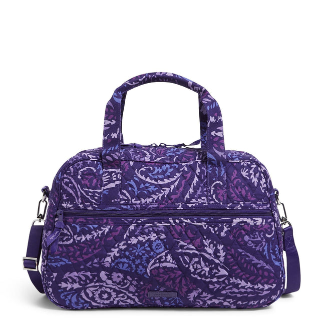 Factory Style Compact Traveler Bag-Paisley Amethyst-Image 1-Vera Bradley