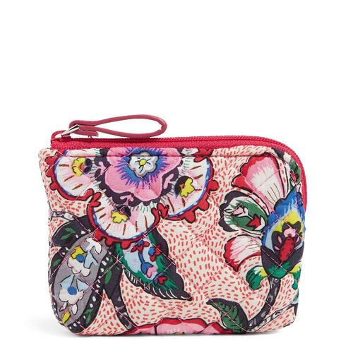 Coin Purse-Stitched Flowers-Image 1-Vera Bradley
