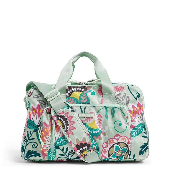 Compact Weekender Travel Bag-Mint Flowers-Image 1-Vera Bradley