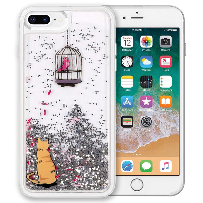 Glitter Flurry Case for iPhone 7+/8+-Cat's Meow-Image 1-Vera Bradley