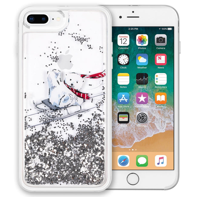 Glitter Flurry Case for iPhone 7+/8+-Beary Merry-Image 1-Vera Bradley