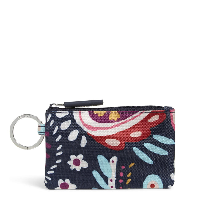 Factory Style Lighten Up Zip ID Case-Painted Paisley-Image 1-Vera Bradley