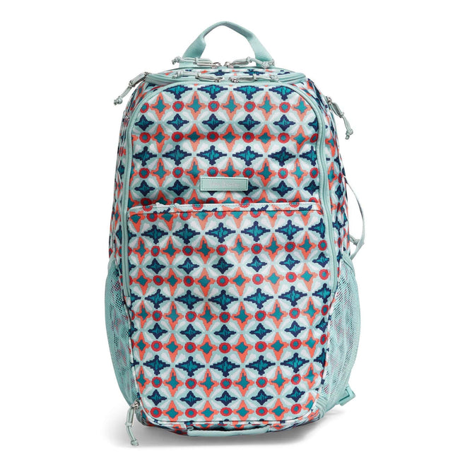 Lighten Up Journey Backpack-Water Geo-Image 1-Vera Bradley