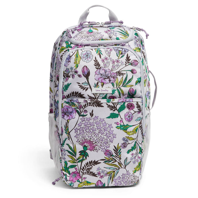 Lighten Up Journey Backpack-Lavender Botanical-Image 1-Vera Bradley