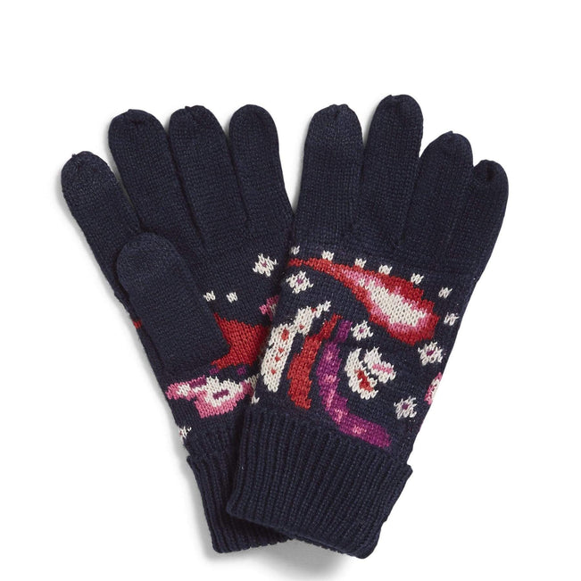 Factory Style Cozy Gloves-Painted Paisley-Image 1-Vera Bradley