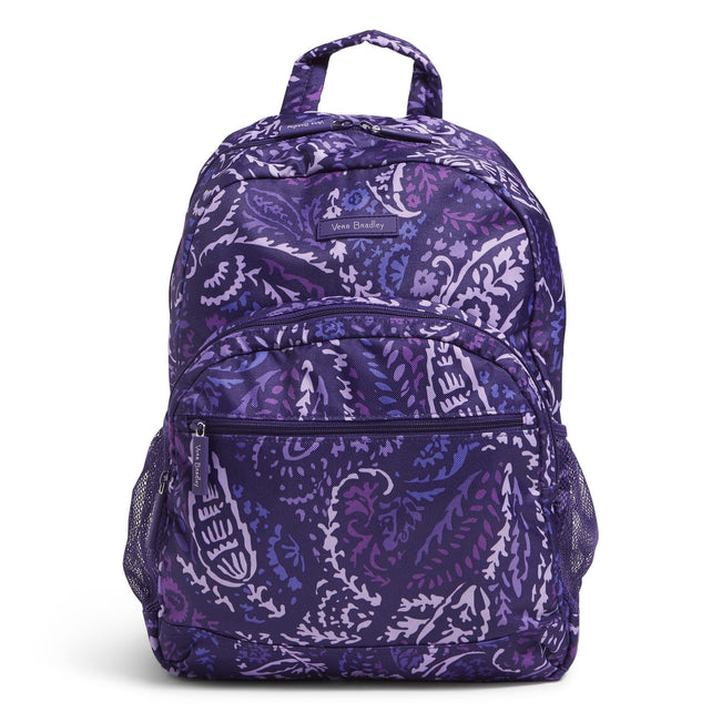 Factory Style Lighten Up Essential Backpack-Paisley Amethyst-Image 1-Vera Bradley