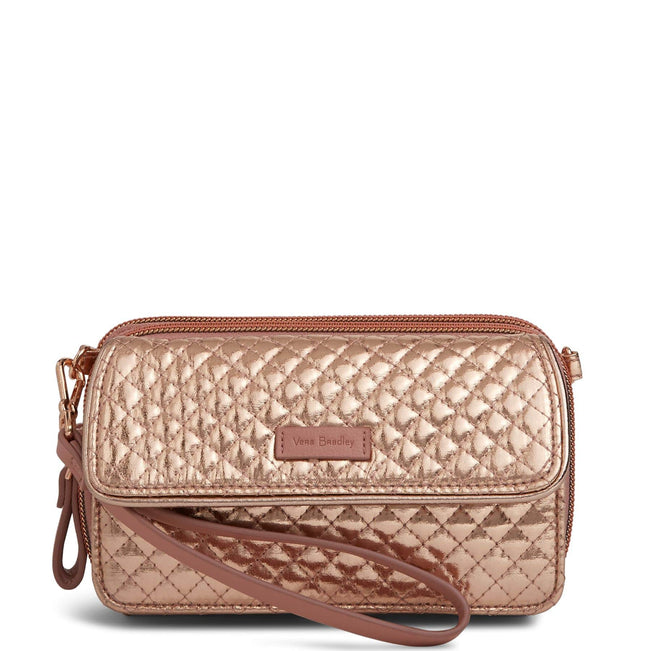 RFID All in One Crossbody-Rose Gold Shimmer-Image 1-Vera Bradley