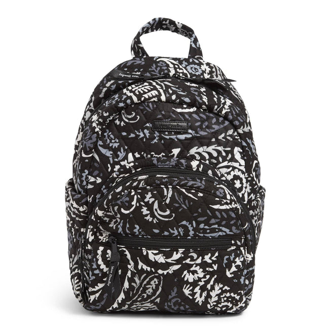 Factory Style Essential Compact Backpack-Paisley Noir-Image 1-Vera Bradley