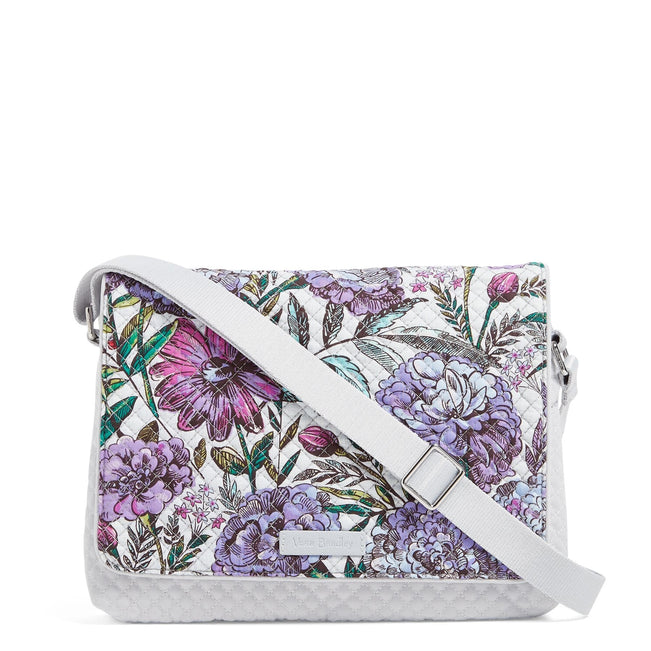 Turnabout Crossbody-Lavender Meadow-Image 1-Vera Bradley