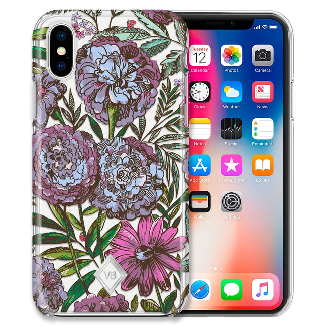 Flexi Case for iPhone X/XS-Lavender Meadow-Image 1-Vera Bradley