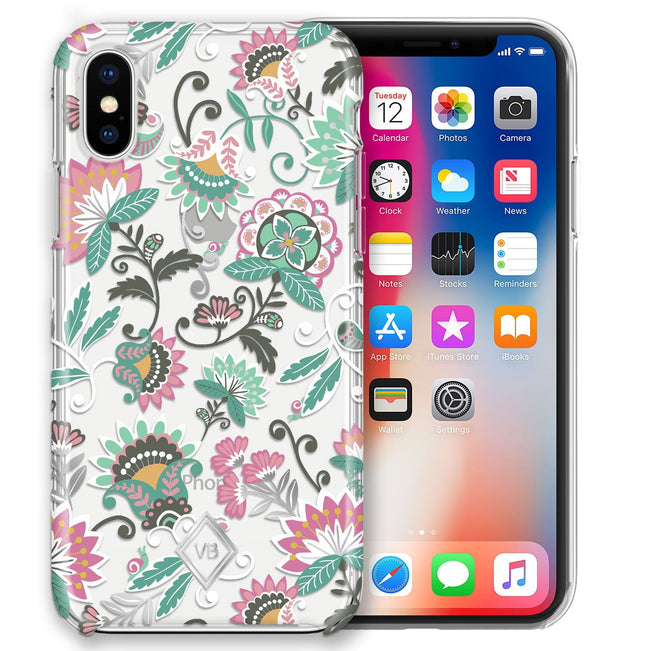 Flexi Case for iPhone X/XS-Mint Flowers-Image 1-Vera Bradley