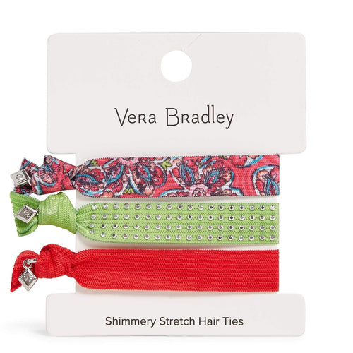 Factory Style Shimmery Stretch Hair Ties-Sunburst Floral-Image 1-Vera Bradley