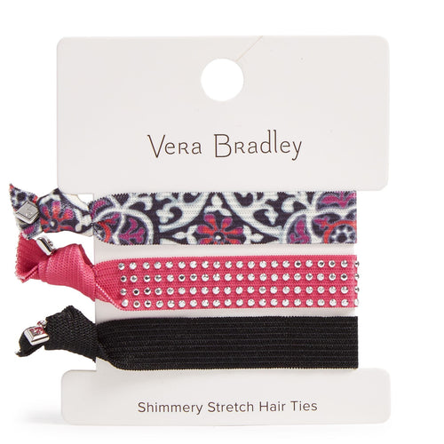 Factory Style Shimmery Stretch Hair Ties-Scroll Medallion-Image 1-Vera Bradley