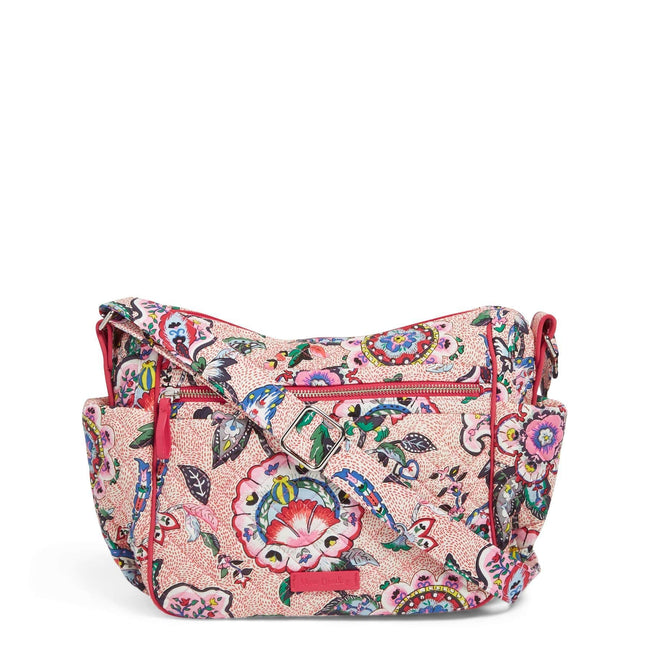 On the Go Crossbody-Stitched Flowers-Image 1-Vera Bradley