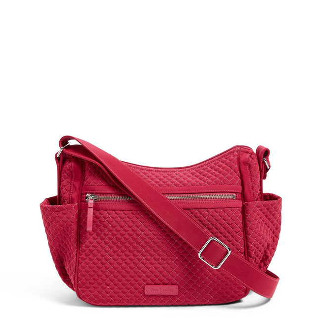 On the Go Crossbody-Microfiber Passion Pink-Image 1-Vera Bradley