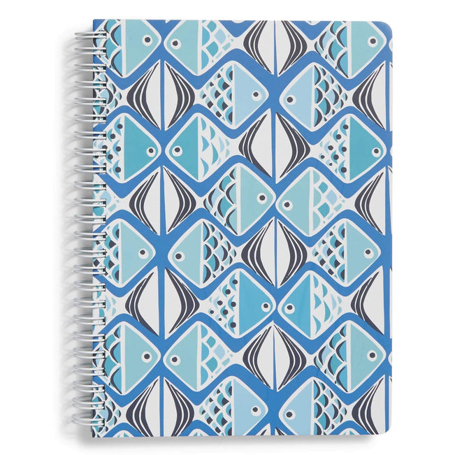 Factory Style Mini Notebook-Go Fish Blue-Image 1-Vera Bradley
