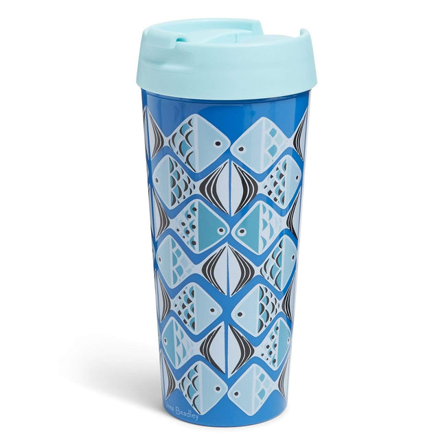 Factory Style Travel Mug 16oz-Go Fish Blue-Image 1-Vera Bradley