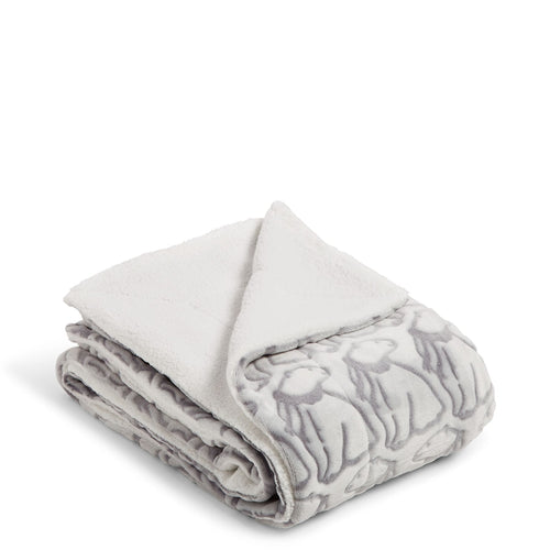 Cozy Life Throw Blanket-Beary Merry-Image 1-Vera Bradley