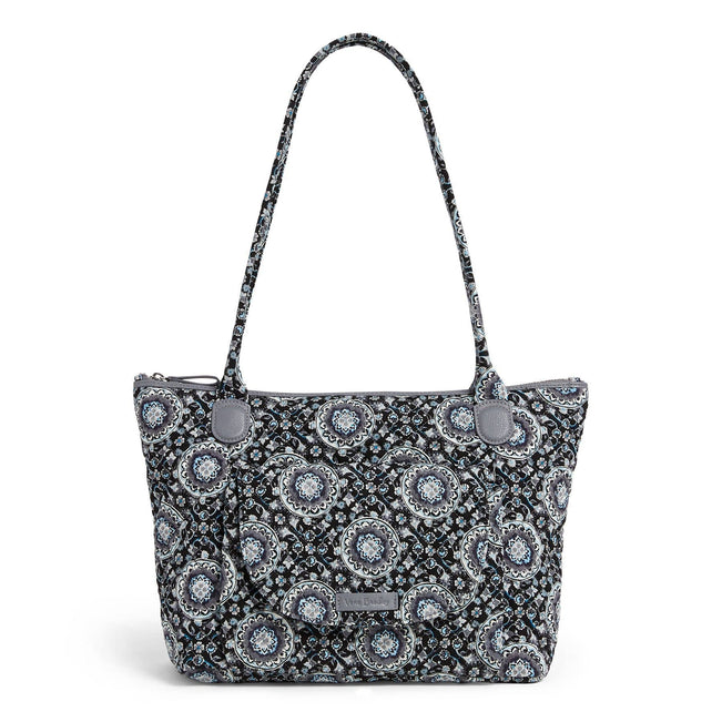 Carson East West Tote Bag-Charcoal Medallion-Image 1-Vera Bradley