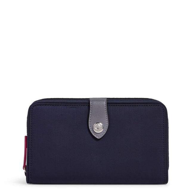 Midtown RFID Snaptab Wallet-Performance Twill Classic Navy-Image 1-Vera Bradley