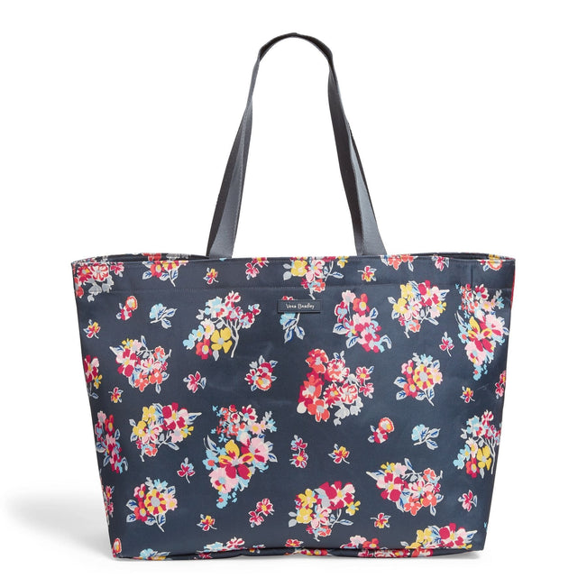 Large Family Tote Bag-Tossed Posies-Image 1-Vera Bradley
