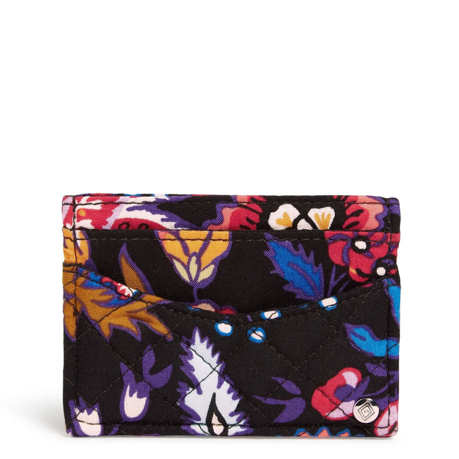 Slim Card Case-Foxwood-Image 1-Vera Bradley