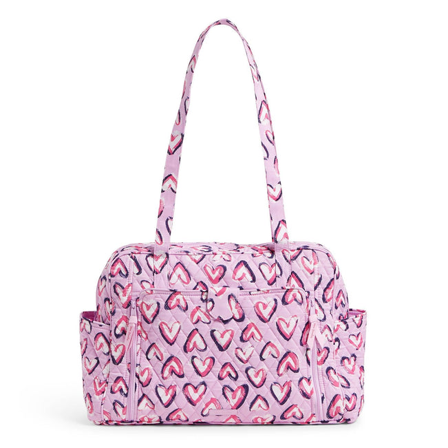 Factory Style Baby Bag-Hearts Iced Pink-Image 1-Vera Bradley