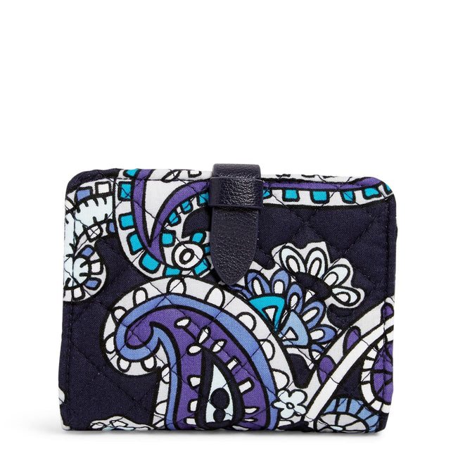 RFID Small Wallet-Deep Night Paisley-Image 1-Vera Bradley