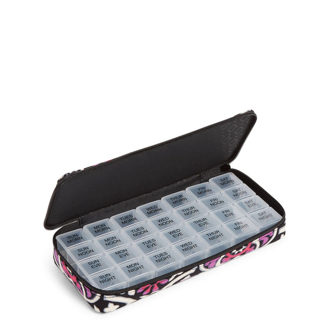 Factory Style Large Travel Pill Case-Scroll Medallion-Image 1-Vera Bradley