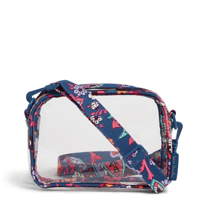 Clearly Colorful Stadium Crossbody Bag-Dragon Fruit Floral-Image 1-Vera Bradley