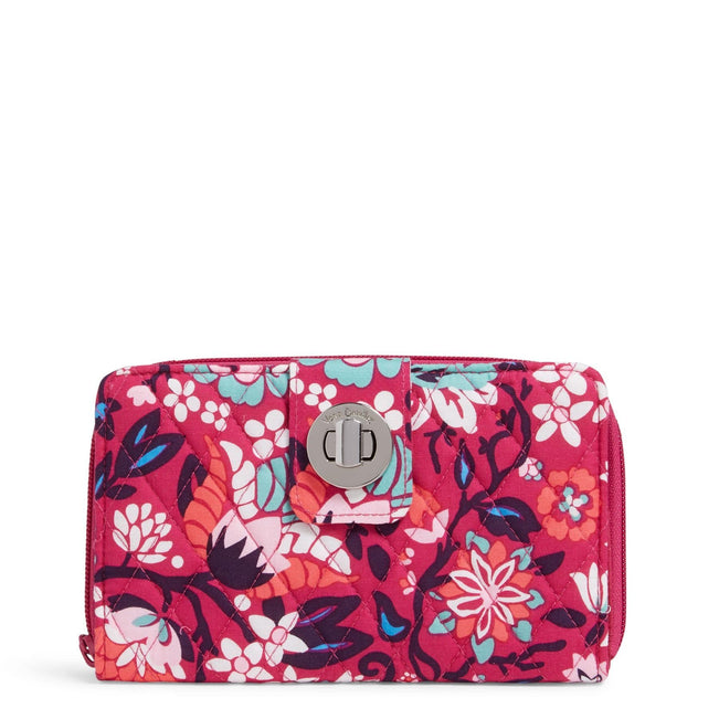 Factory Style RFID Turnlock Wallet-Bloom Berry-Image 1-Vera Bradley