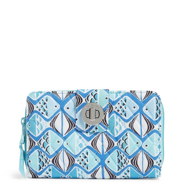 Factory Style RFID Turnlock Wallet-Go Fish Blue-Image 1-Vera Bradley