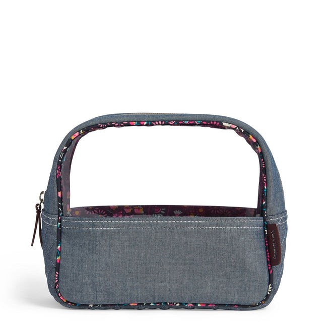 VBU Large Cosmetic Bag-Blue Chambray-Image 1-Vera Bradley