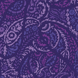 Factory Style Lighten Up Zip-Around Cosmetic Bag-Paisley Amethyst-Image 3-Vera Bradley