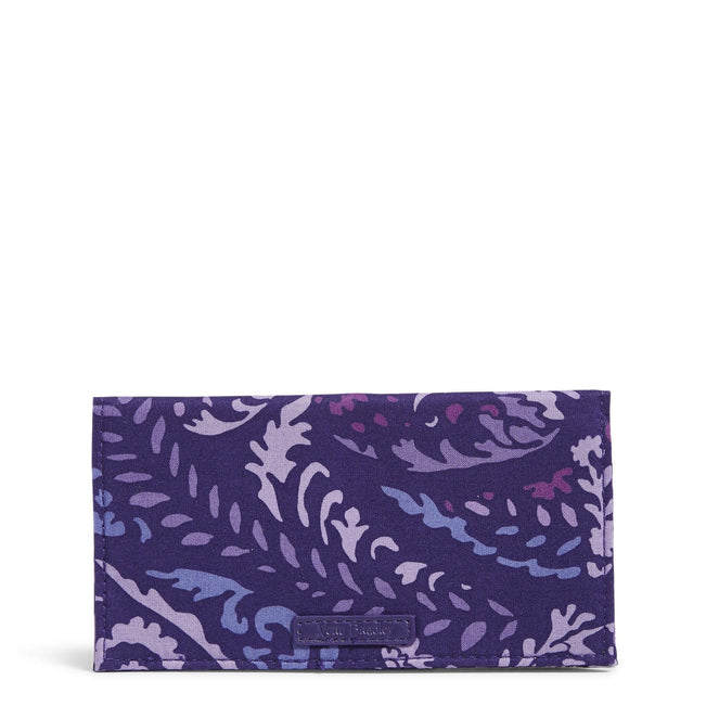 Factory Style Checkbook Cover-Paisley Amethyst-Image 1-Vera Bradley