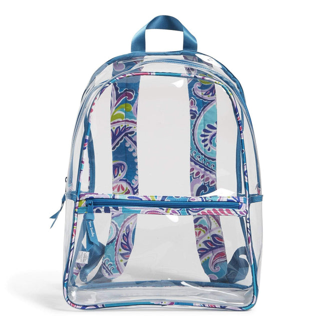 Factory Style Essential Clear Backpack-Waikiki Paisley-Image 1-Vera Bradley