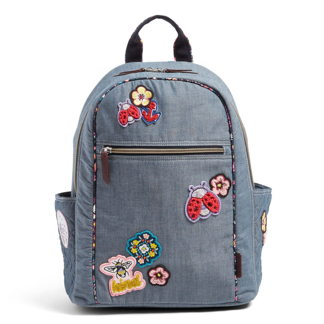 VBU Backpack-Blue Chambray-Image 1-Vera Bradley