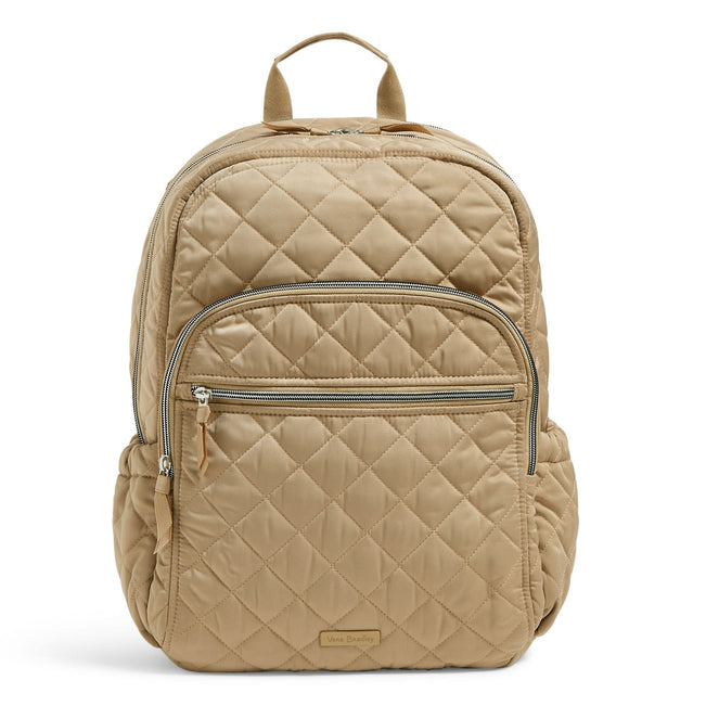Campus Backpack-Performance Twill Khaki-Image 1-Vera Bradley