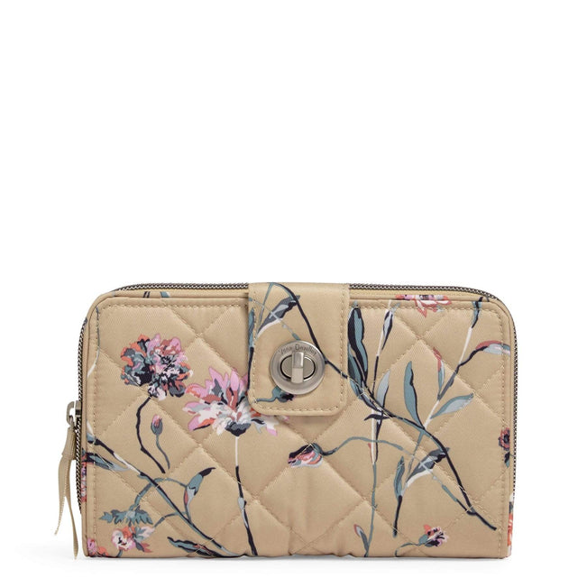 RFID Turnlock Wallet-Strawflowers-Image 1-Vera Bradley